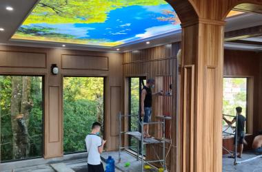 Tấm ốp PVC của hÔm Plasgo – Thiết kế siêu lạ mắt của một công trình đang thi công tại Tam Đảo